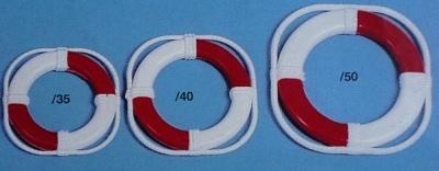 Rettungsringe Ø 40 mm, weiß/rot