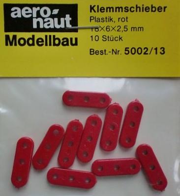 Klemmschieber18 mm,  rot