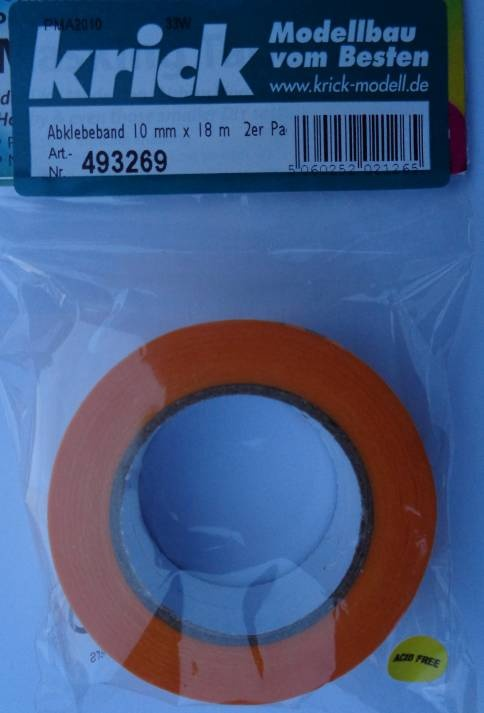 Abklebeband, Breite 10 mm, Länge 18 m, 2 Rollen