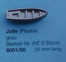 Jolle, grau.28 mm, 5 Stück