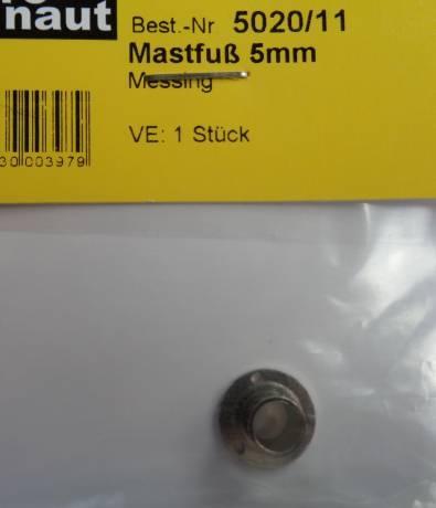 Mastfuss Ms  Ø 5mm, vernickelt, 1 Stück