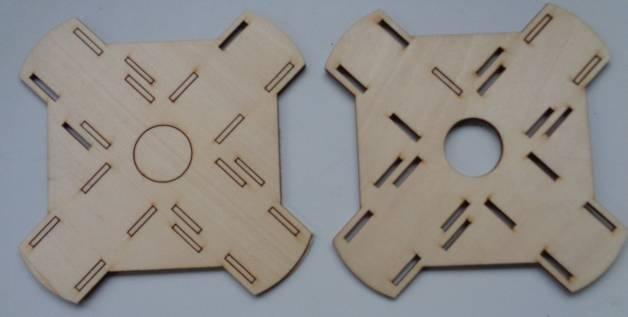 2 Zentralplatten f. Rupfteileset