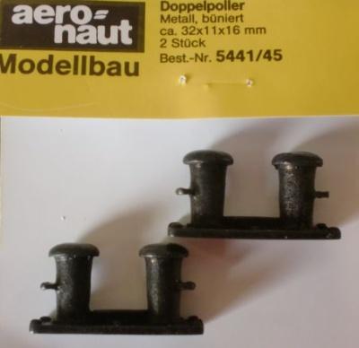 Doppelpoller Metall, Länge 32 mm, Breite 11 mm, Höhe 16 mm