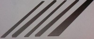 Carbon-Flachstab, 0,5 x 3,0 mm, Länge 1 m, 1 Stück