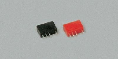 Buchse  4-polig, rot, 5 Stück
