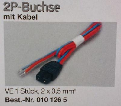 2 P Buchse mit Kabel