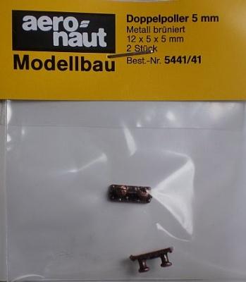 Doppel-Poller 5 mm (Metall brüniert), 2 Stück