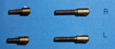 Gabelschrauben, Messing M 2, Linksgewinde, 10 Stück