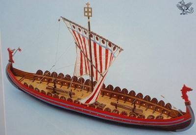 Mora Wikingerschiff  (Länge ca. 55 cm)