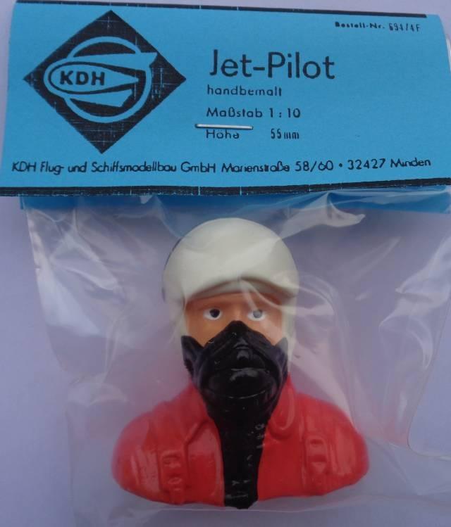 Jet-Pilot, farbig, handbemalt, Breite 70mm, Höhe 70 mm