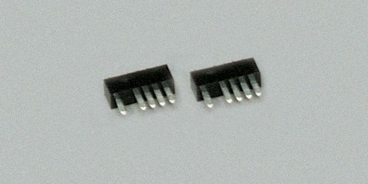 Stecker  5-polig, schwarz, 10 Stück