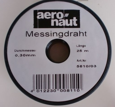 Messingdraht  0,3 mm / 25 m   - Rolle -