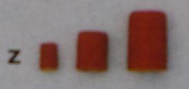 Schleifkappen, zylindrisch, 5 x 11 mm, Korn 60, 5 Stück