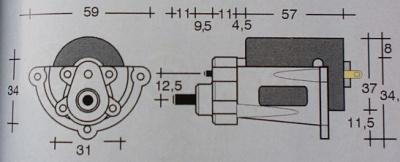 Elektromotor Race 650 (Johnson 6421) mit Getr. M  2,33:1