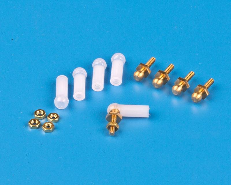 Mini-Kugelgelenke,  M 2 x M 2 (5 Stck)