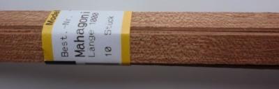 MAHAGONI-Vierkantleisten 1.5 x 10 mm, 1 m lang, 10 Stück