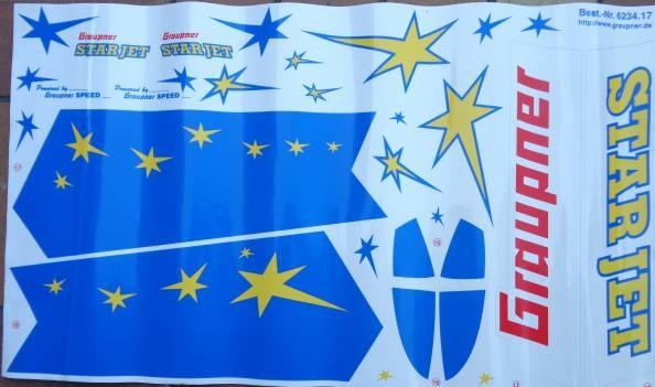 Dekorbogen, blau, STARJET   - vorrätig -   /1.4.19
