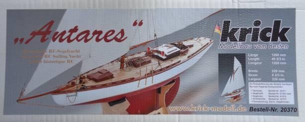 Antares Kutteryacht Grundbausatz, Länge 126 cm