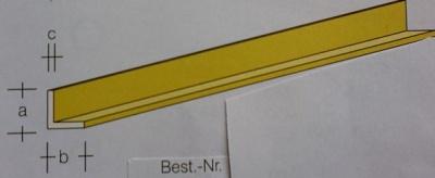 Messing-L-Profile 1x1, je 1 m lang