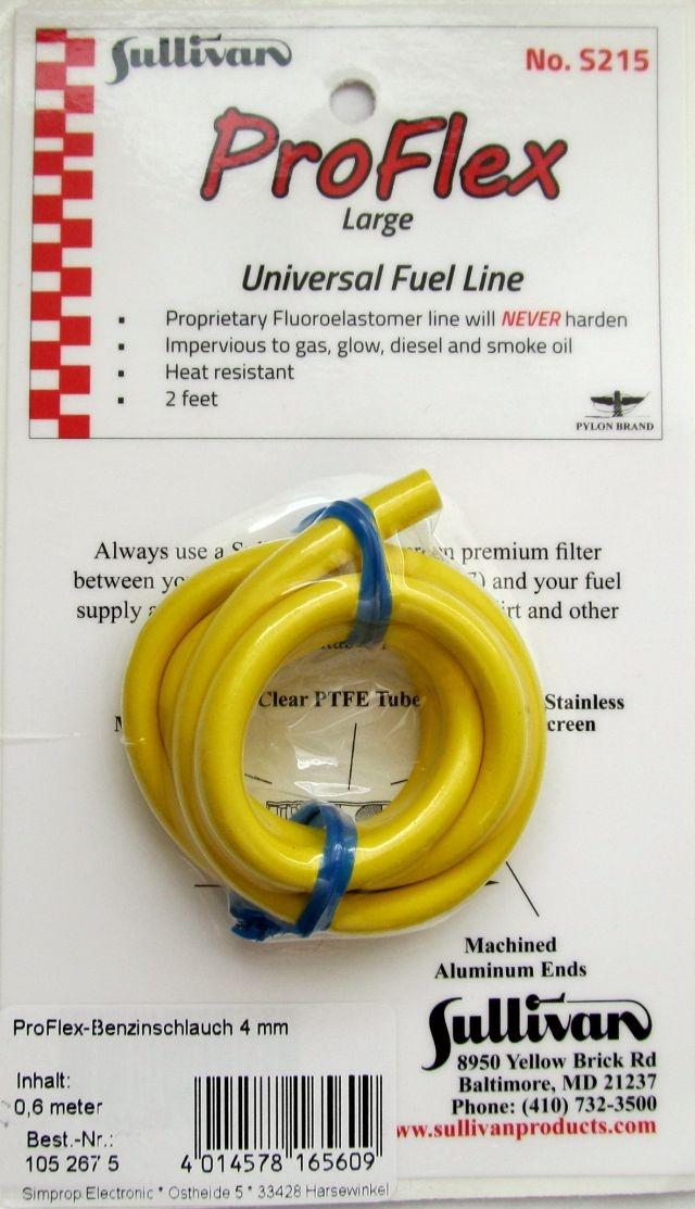 ProFlex-Benzinschlauch 4 mm, Länge 12 Feet = 3,65 m