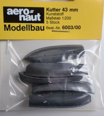 Kutter,grau,.43 mm lang, 5 Stück