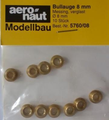 Bullauge Ms Ø  8 mm, innen 5 mm, 10 Stück