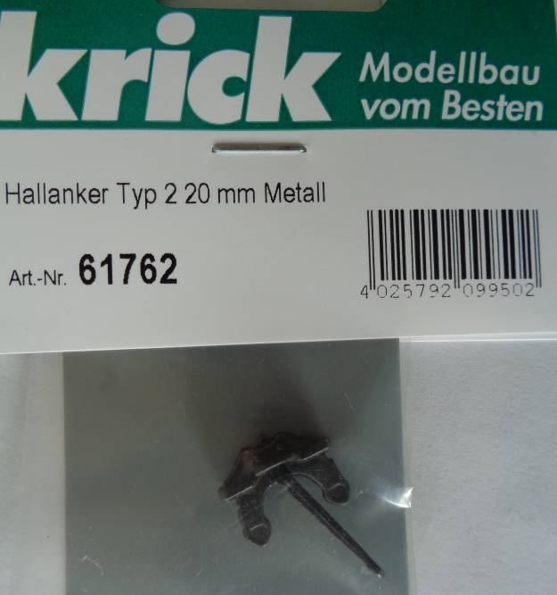 Hallanker Typ 2, Länge  20 mm,  Metall