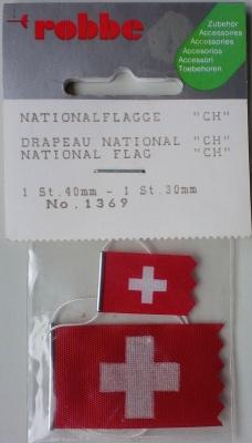 Nationalflaggen CH Schweiz, 1 Stück 40 mm, 1 Stück 30 mm