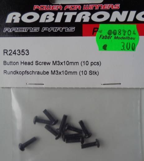 Rundkopfschrauben M 3 x 10 mm,  10 Stück
