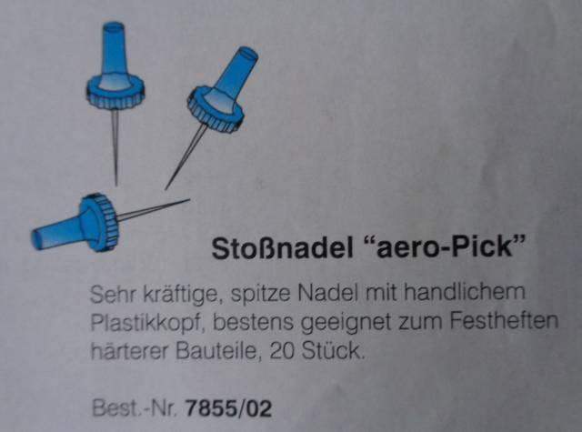 Aero-Pick Stossnadel, 100 Stück,