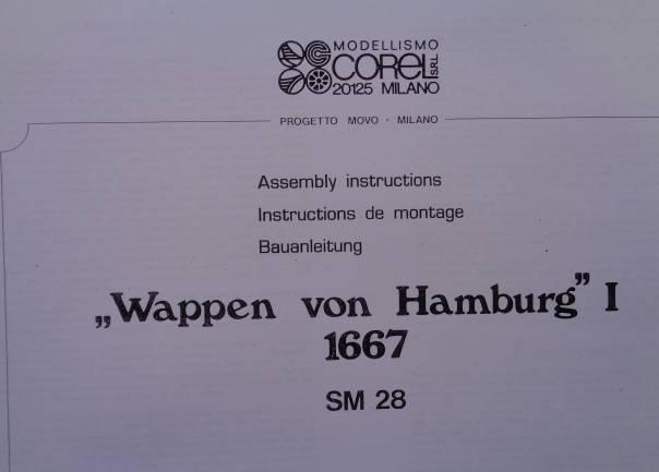 Bauplan Wappen von Hamburg