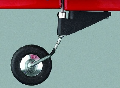Heckfahrwerk, kompl.  f. Spornrad, superleicht (ohne Rad)