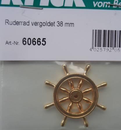 Ruderrad vergoldet 38 mm