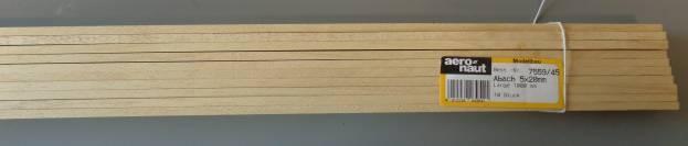 ABACHI-Vierkantleisten  5 x 20 mm, 1 m lang, 10 Stück