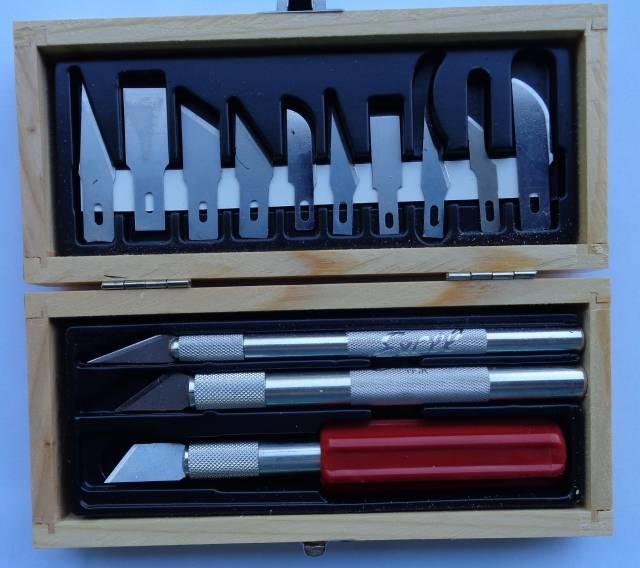 Hobby Knife Set Holz