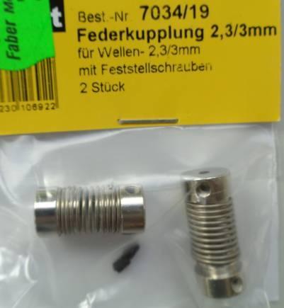 Federkuppl.2,30/3,00mm, 2 Stück