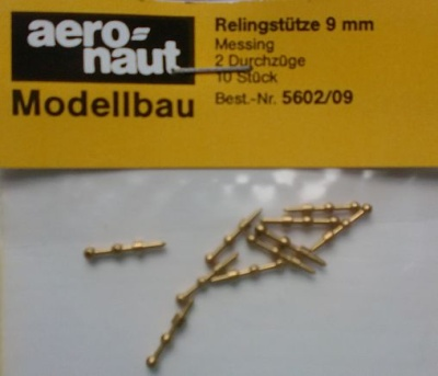 Relingstütze 2D/ 9mm