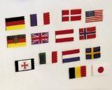 Flaggensatz Belgien 25x40 mm/15x30 mm