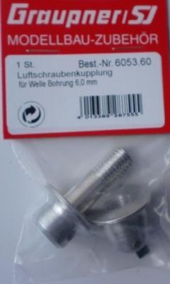 Luftschraubenkupplung f. Welle 6 mm