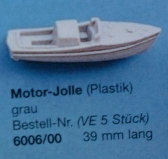 Motor-Jolle, grau ,39 mm lang, 5 Stück