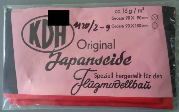 Japanseide ca. 16 g/qm, rot,  zurzeit nicht lieferbar