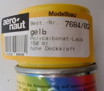 Polycarbonat-Lack gelb 150 ml