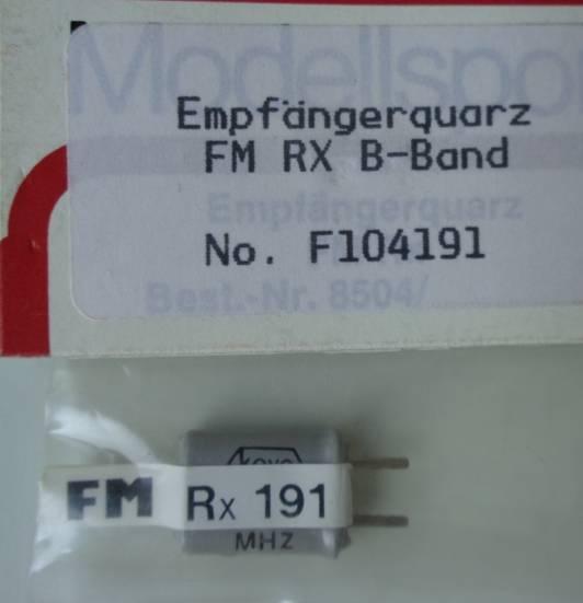 FM-Empfänger-Quarz 35.910 MHz, Kanal 191 FM
