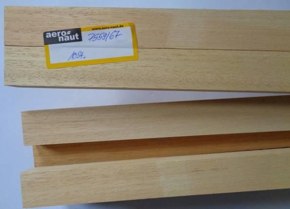 ABACHI-Vierkantleisten  20 x 30 mm, 1 m lang, 10 Stück