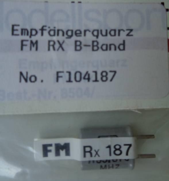 FM-Empfängerquarz 35.870  MHz, Kanal 187 FM