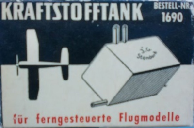 Kraftstofftank, metall, 45 ccm, Breite/Höhe=30mm, Länge 50mm