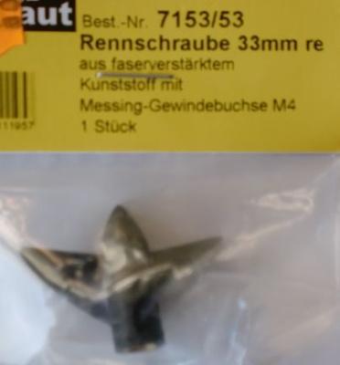 Rennschraube 2-Blatt, 33 mm, rechtslaufend