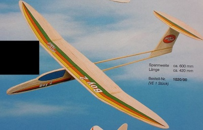 BOY 2 Gleitflugmodell (Spannw. 60 cm)