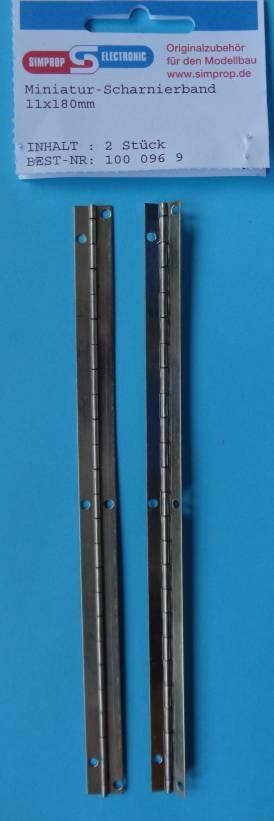 Miniatur-Scharnierband 11 x 180 mm, 2 Stück