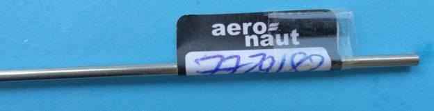Stahlrohr rostfrei, Außen-Ø 2 mm, Innen-Ø 1,4 mm, Länge 1 m
